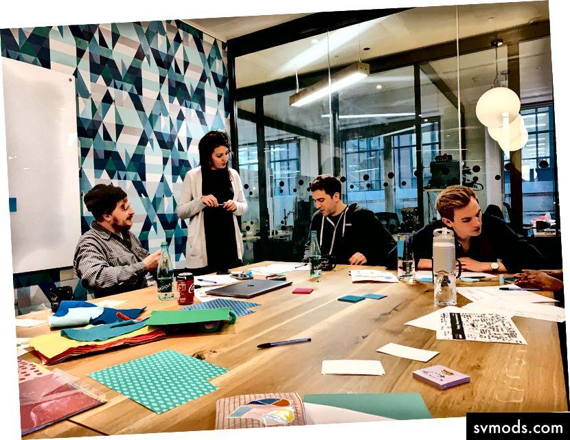 Pengantar lokakarya Berpikir Desain kami mengadakan untuk kantor London Algolia