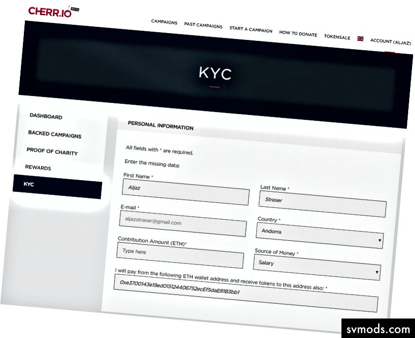 KYC Informationsseite