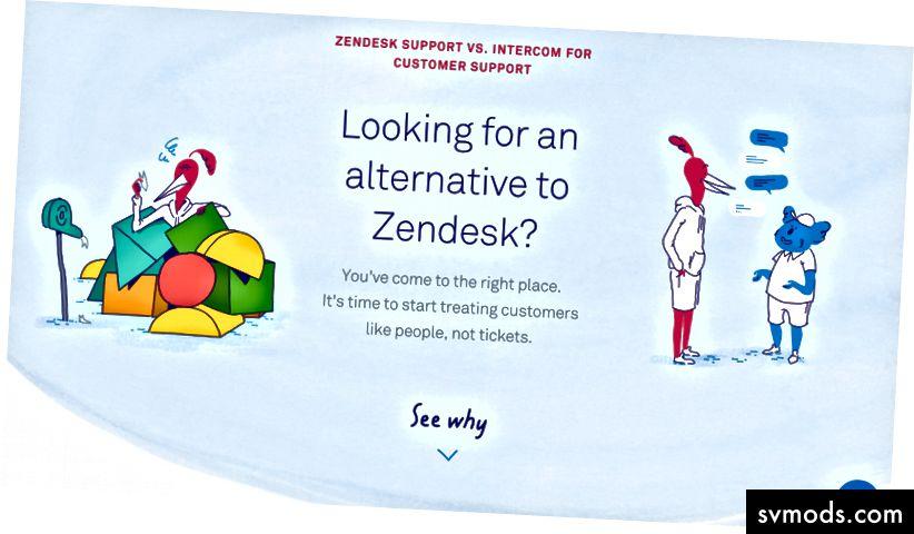 Trang so sánh: Liên hệ vs Zendesk