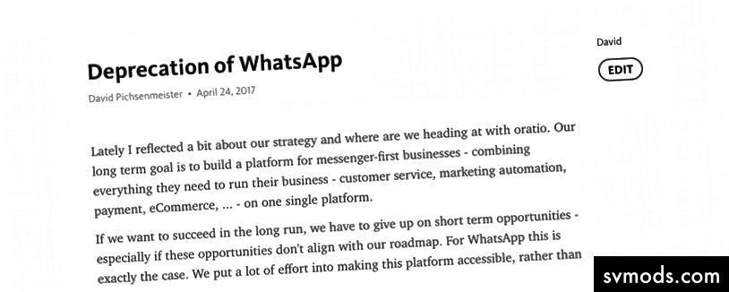 Lưu ý nội bộ đề nghị không dùng WhatsApp vào ngày 24 tháng 4 năm 2017