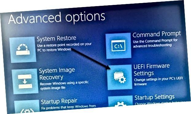 uefi firmware beállítások