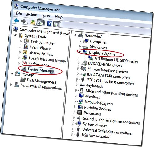 Cari Proyektor di Windows 7 Device Manager