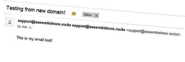 új e-mail cím