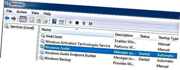 Windows audio szolgáltatás