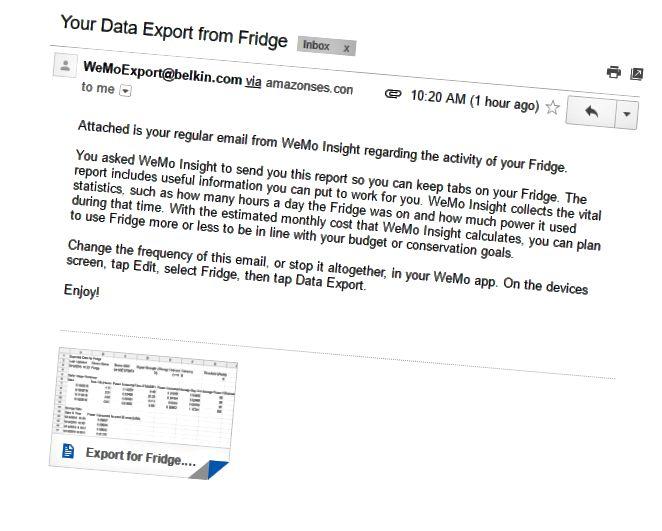wemo email data