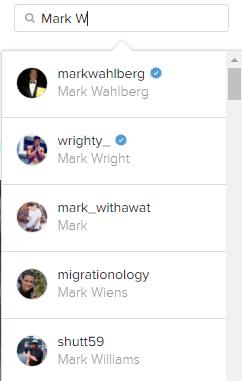 """ieškoti """"Instagram"""" pavadinime"""