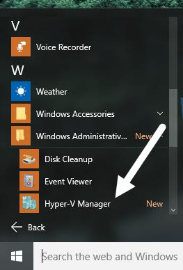 시작 메뉴 하이퍼 v