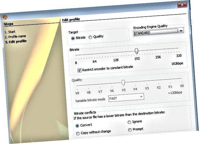 bagong profile ng pag-encode