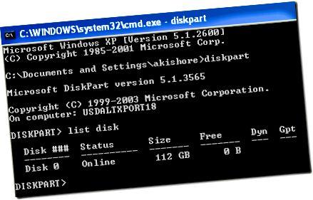 diskpart set active partition