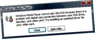 nem tudja lejátszani a DVD-t