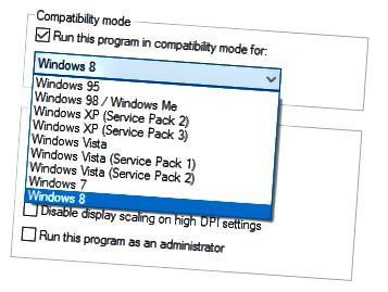 kompatibilitási módban