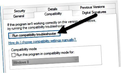 kompatibilitási hibaelhárító