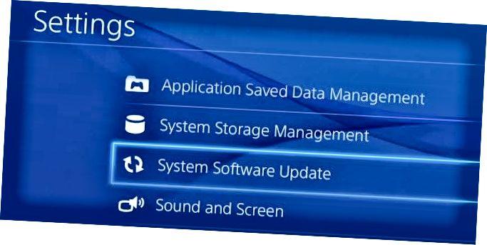 ps4 rendszer szoftver frissítés
