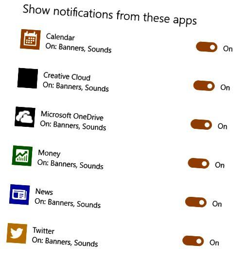 pemberitahuan aplikasi windows 10
