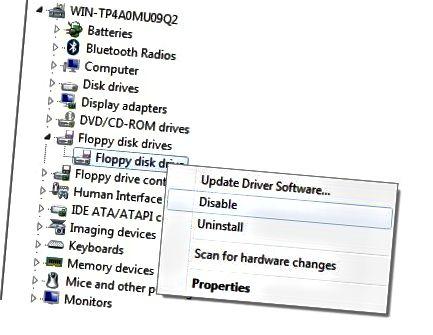 deaktivere hardware