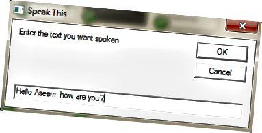beszéljen párbeszédpanel