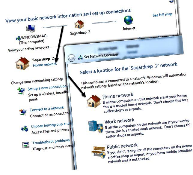 네트워크 유형 변경