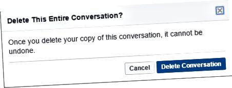 scrios comhrá facebook