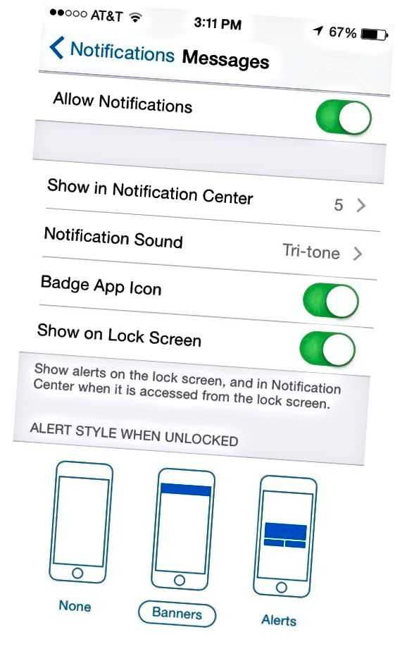 üzenetek zár képernyőn