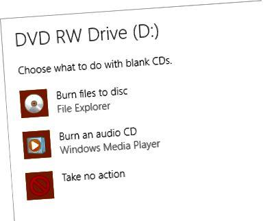 रिक्त डिस्क विकल्प