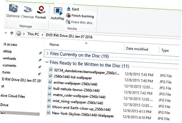 डिस्क में और फ़ाइलें जोड़ें