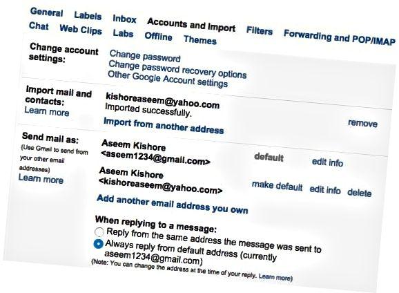 email opsi baru