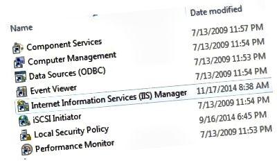 admin tools iis