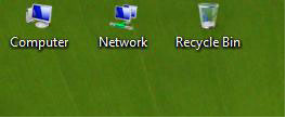ubah ukuran ikon desktop vista