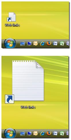 ubah desktop ukuran ikon vista