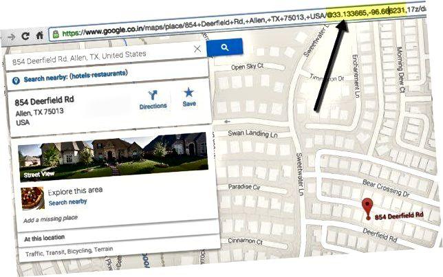 google maps coördinaten