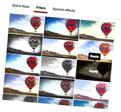 vaizdo filtrai