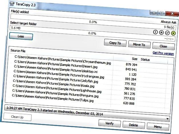 daftar file teracopy
