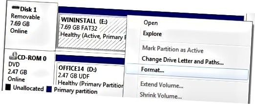 disko tvarkymo formatas