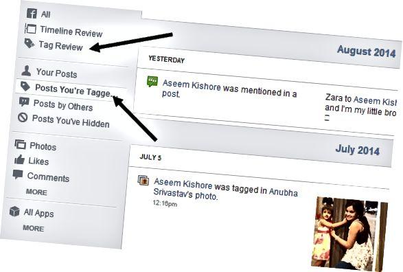 tag felülvizsgálat facebook