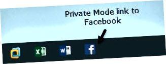 개인 모드 작업 표시 줄