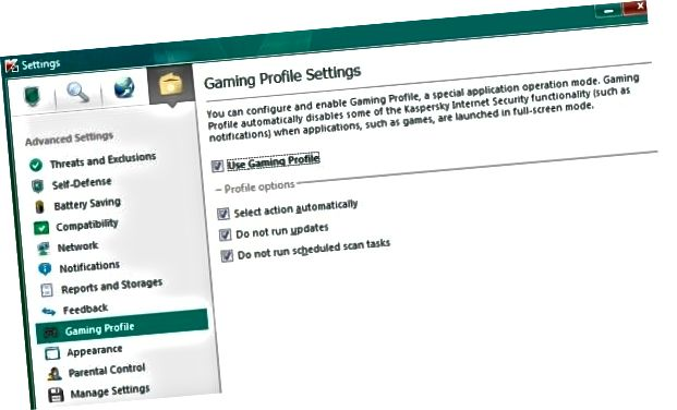 Profil game kaspersky
