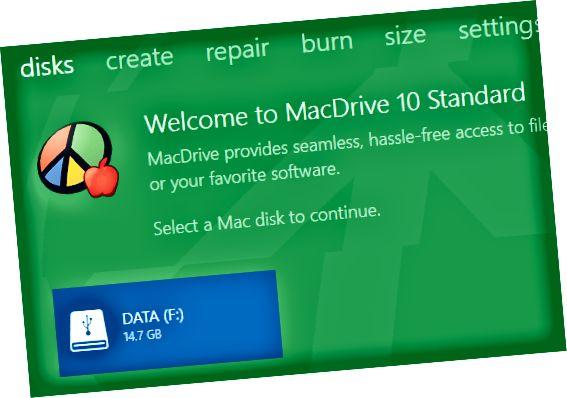 맥 디스크를 선택
