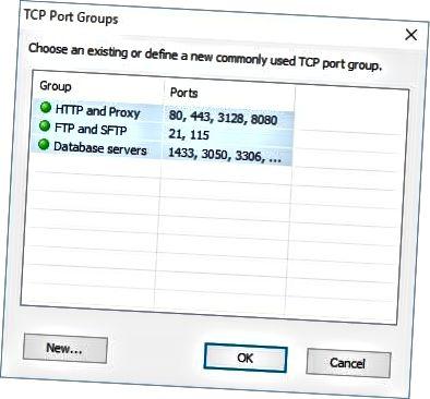 tcp-portgrupper