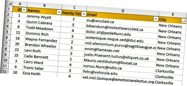 duomenys surūšiuoti Excel