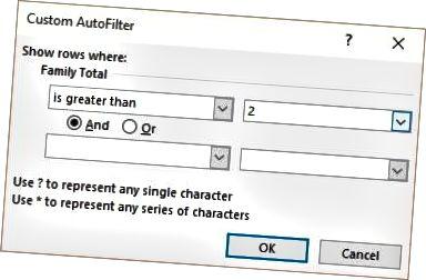 yra didesnis už filtrą