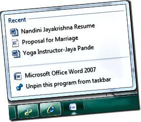 törölje a Windows 7 ugrólistákat