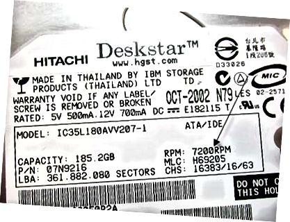 label hard drive