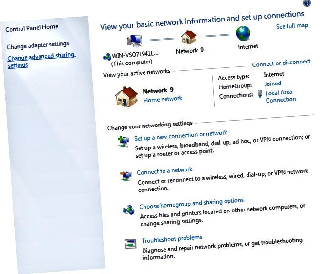 pengaturan jaringan windows 7