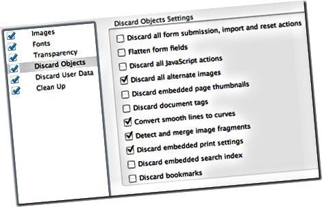 buang objek pengoptimal pdf