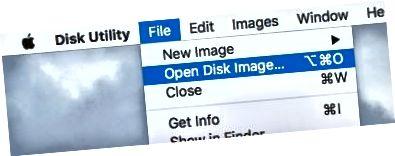 디스크 이미지 열기