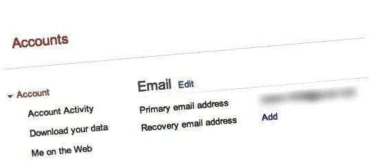 Gendannelses-e-mail-adresse