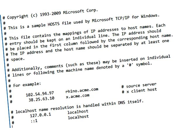 host file notepad