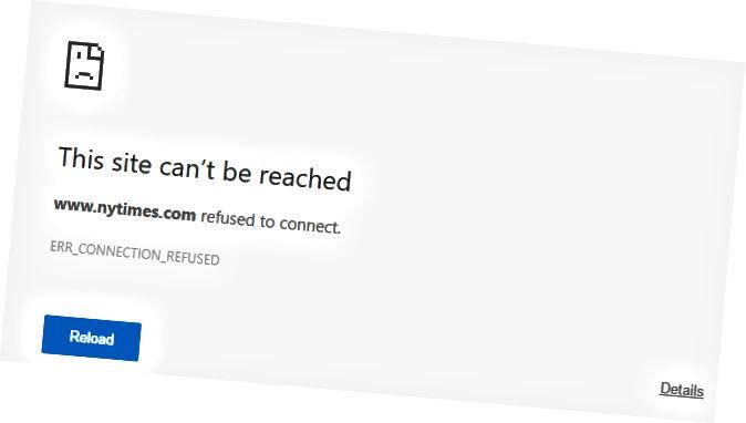 situs tidak dapat dijangkau