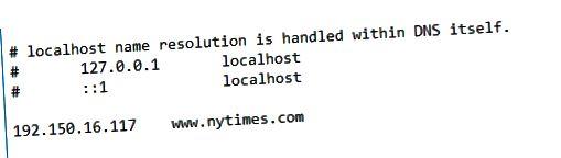 host pengalihan file