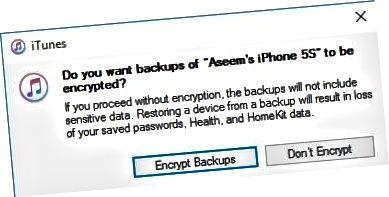 titkosított biztonsági mentés